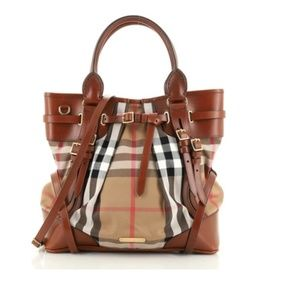 Burberry Bridle whipstitch tote bag